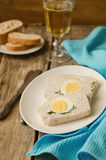 Turkey meatloaf with egg Royalty Free Stock Photos