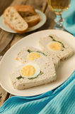 Turkey meatloaf with egg Royalty Free Stock Images