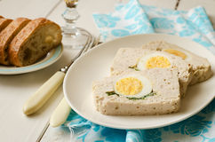 Turkey meatloaf with egg Stock Photography