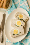 Turkey meatloaf with egg Stock Image
