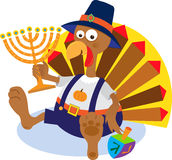 Turkey and Menorah Stock Photos