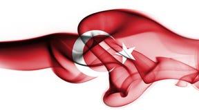 Turkey national smoke flag. National smoke flag of Turkey isolated on white background stock images