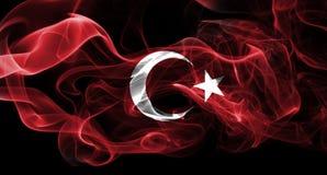 Turkey national smoke flag. National smoke flag of Turkey isolated on black background royalty free stock image