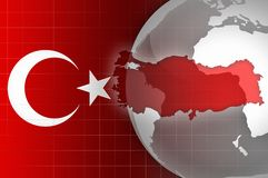 Turkey news background Stock Images