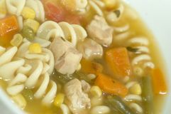 Turkey noodle soup Royalty Free Stock Photos