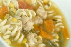 Turkey noodle soup Royalty Free Stock Photos