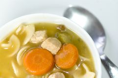 Turkey noodle soup Stock Image