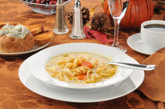 Turkey noodle soup Royalty Free Stock Images