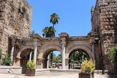 Free Turkey- Old City Of Antalya. Hadrian`s Gate. Royalty Free Stock Image - 176536226