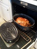 Turkey in old roasting pan Royalty Free Stock Image
