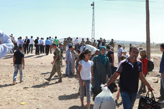 TURKEY OPENED ITS BORDER TO SYRIANS. Stock Photos