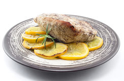 Turkey with oranges Royalty Free Stock Photo