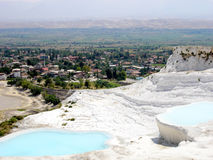 Turkey. Pamukale. Pamukale - one of the most popular places in Turkey Stock Photos