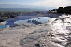Turkey - Pamukkale. Pamukkale is a natural site in Denizli Province in south-western Turkey Royalty Free Stock Photos