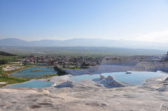Turkey - Pamukkale. Pamukkale is a natural site in Denizli Province in south-western Turkey Royalty Free Stock Photo