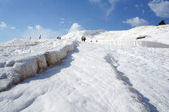 Turkey -pamukkale (Cotton castle) Royalty Free Stock Photography