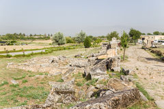 Turkey, Pamukkale. View of the ruins of Hierapolis Necropolis Stock Images