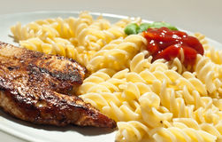 Turkey and pasta Royalty Free Stock Images