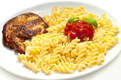Turkey and pasta Royalty Free Stock Photography
