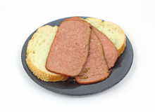 Turkey Pastrami and Bread Royalty Free Stock Photography