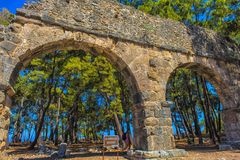 Arch of the ancient city Stock Photos