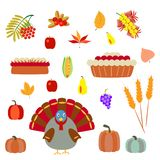 Turkey and pie on a white background royalty free illustration
