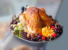 Turkey on plate Stock Image