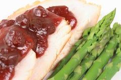 Turkey plate close up Stock Image