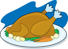 Turkey on a Platter Stock Image