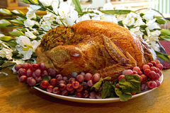 Turkey on Platter Royalty Free Stock Images