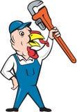 Turkey Plumber Monkey Wrench Cartoon Stock Photography