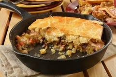 Turkey pot pie Royalty Free Stock Photo