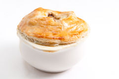 Turkey pot pie with pastry top Royalty Free Stock Image