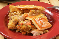 Turkey pot pie Royalty Free Stock Images