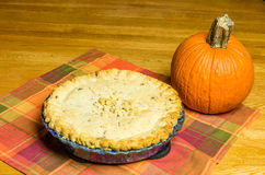 Turkey pot pie with pumpkin Royalty Free Stock Photography