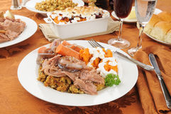 Turkey pot roast with stuffine Stock Image