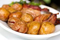 Turkey with potato Royalty Free Stock Photo