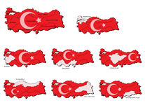 Turkey provinces maps Royalty Free Stock Image