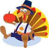Turkey and Pumpkin Stock Photo