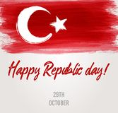 The Republic Day of Turkey holiday background Royalty Free Stock Photography