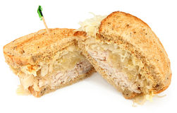 Turkey Reuben Sandwich Royalty Free Stock Image