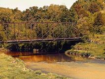 Turkey River Bridge. Old iron rail road bridge over the Turkey river Royalty Free Stock Image