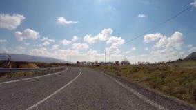 Turkey - road in Cappadocia - onboard camera stock video