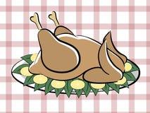 Turkey. Roast turkey on the plate Royalty Free Stock Image