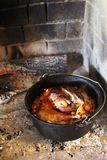 Turkey Roasted in Dutch Oven royalty free stock photo
