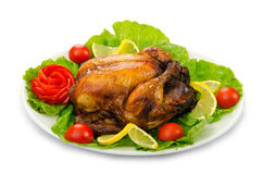 Turkey roasted and served Stock Photography