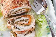 Turkey Roll Closeup Royalty Free Stock Images