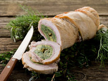 Turkey roll filled Stock Photography