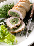 Turkey roll filled Stock Images