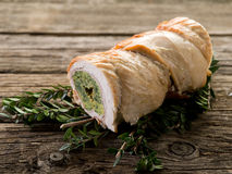 Turkey roll filled Royalty Free Stock Photo